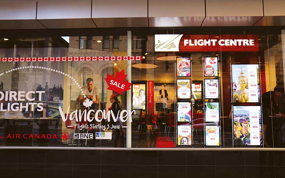 Flight Centre Store Front